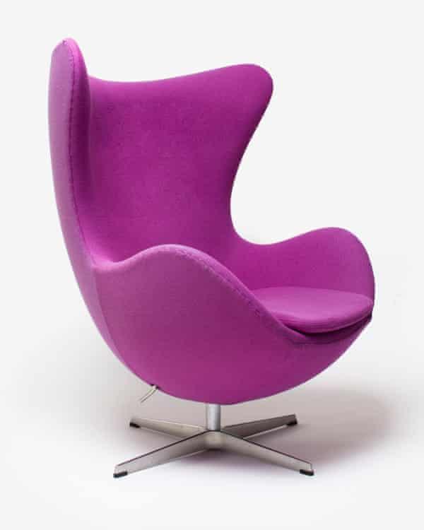 An Egg chair created by Danish designer Arne Jacobsen.