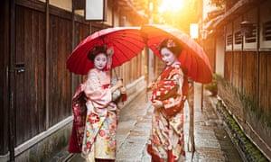 Two geishas.