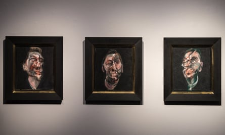 Three Studies for a Portrait of George Dyer is on public display as Christie's in London before auction in New York in May.