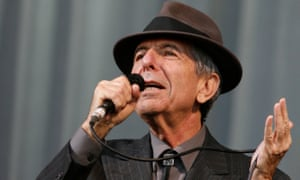 Leonard Cohen performs at Glastonbury in 2008.