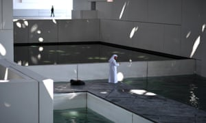 The interior of the Louvre Abu Dhabi.