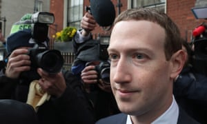 Facebook CEO Mark Zuckerberg in Dublin after meeting with politicians to discuss regulation of social media and harmful content on 2 April 2019.