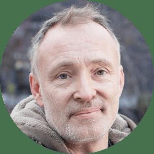 Paddy, 50, bookseller, from Devon