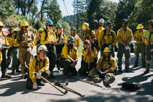 TREX participants undergo a briefing before starting a prescribed burn in Weitchpec, Calif on October 4 2019.