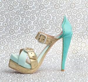 High-heeled shoe by Elisa Strauss