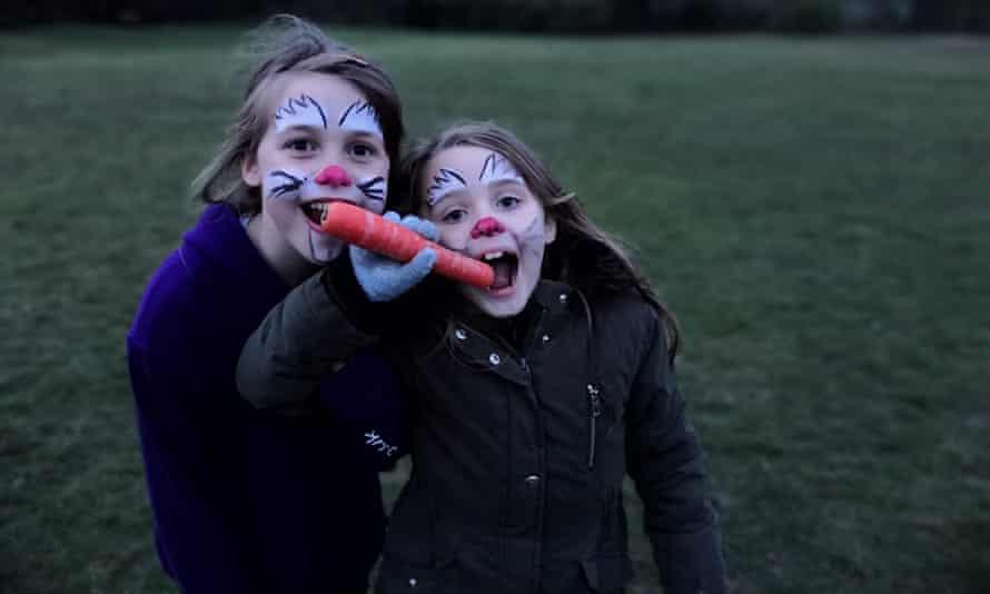 Two girls enjoy activities at  summer camp