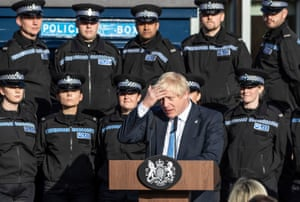 Police officer recruitment drive launchedPrime Minister Boris Johnson making a speech during a visit to West Yorkshire after the government promised £750 million in yesterday's spending review to fund the first year of a plan to recruit an extra 20,000 police officers. PA Photo. Picture date: Thursday September 5, 2019. See PA story POLICE Recruitment. Photo credit should read: Danny Lawson/PA Wire