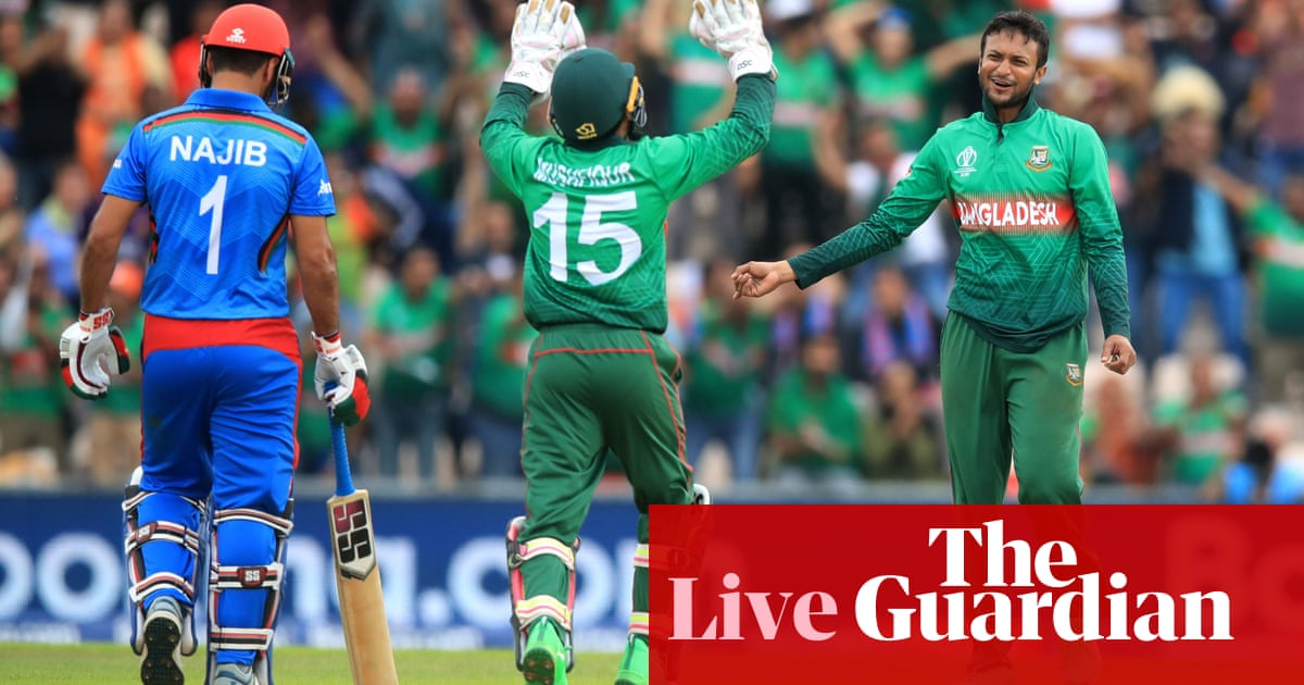 Bangladesh beat Afghanistan by 62 runs: Cricket World Cup 2019 – as