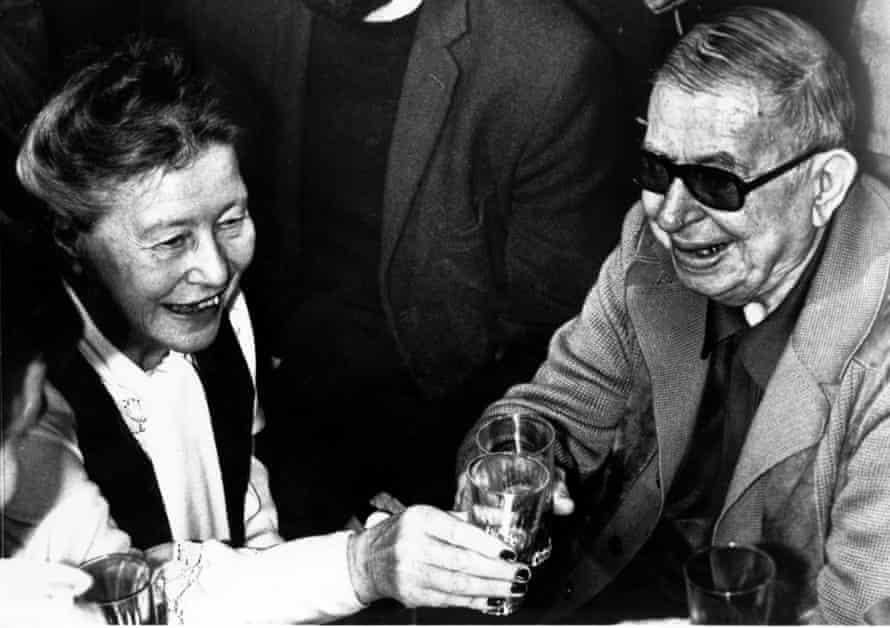 De Beauvoir and Sartre in Paris, June 1977.
