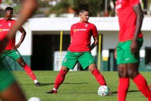 Faiq Bolkiah, training with Maritimo last September.