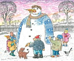 Christmas cartoon card by Paul Thomas.