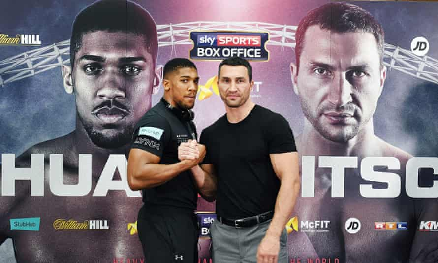 Heavy hitters: Anthony Joshua vs Wladimir Klitschko press conference at Wembley Stadium ahead of their fight.