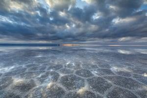 Crystallised salt across the vast expanse
