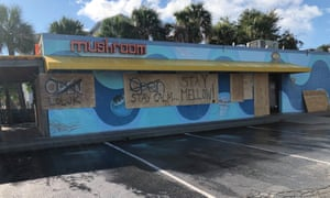 Residents boarded up shops and homes in preparation of Florence.