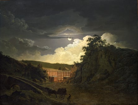 Arkwright's Cotton Mills by Night by Joseph Wright of Derby.