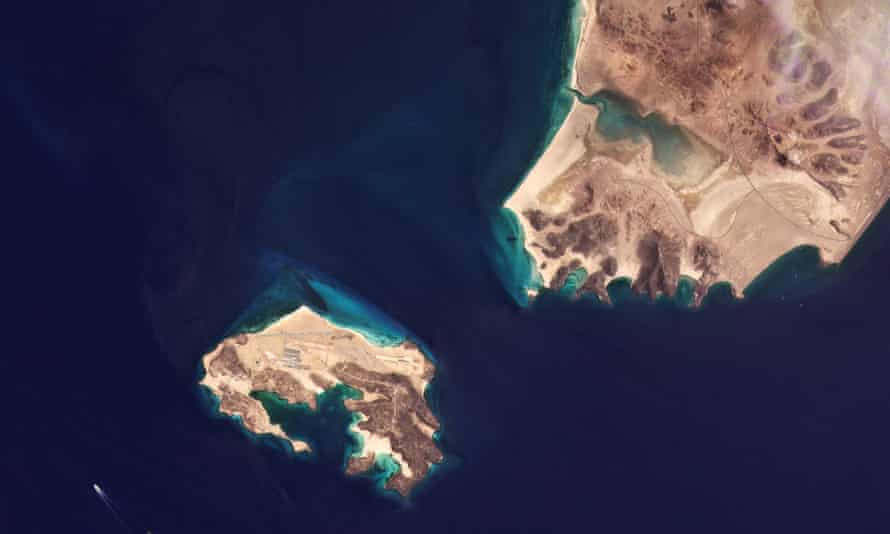 Satellite image of the island