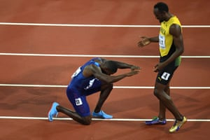 Justin Gatlin pays homage to the retiring 100m legend that is Usain Bolt.
