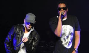 Eminem and Jay-Z performing together in 2009.