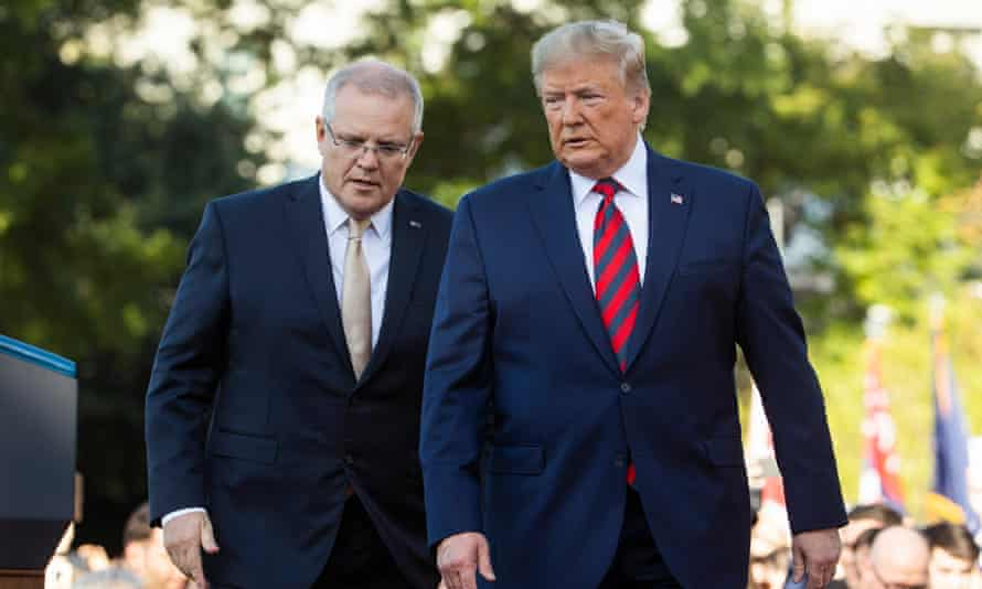 Scott Morrison with Donald Trump at the White House in September.