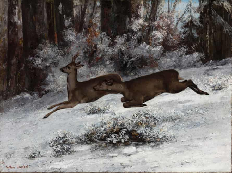 The Ruse, Roe Deer Hunting Episode (Franche-Comté), 1866 by Gustave Courbet.
