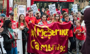 McDonald's employees and trade unionists gather outside parliament on 4 September, the day of the first ever strike at McDonald's in the UK