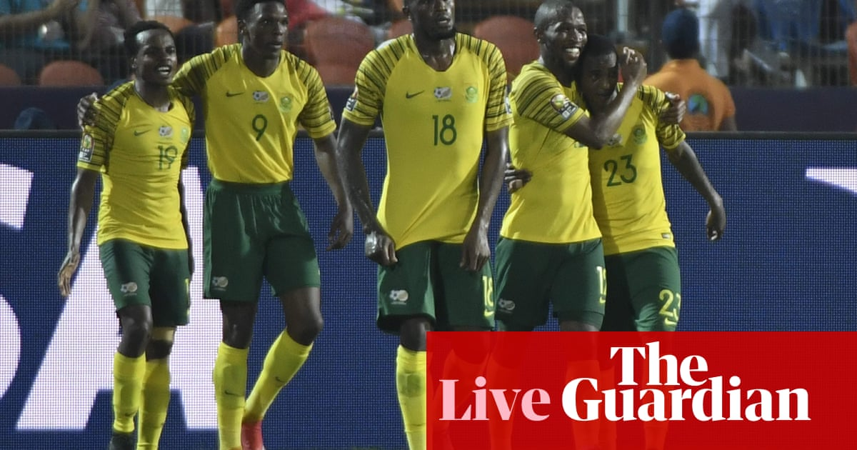 timeless design aa245 e1e08 Egypt 0-1 South Africa: Africa Cup of Nations round of 16 ...