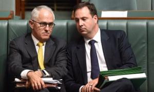 Malcolm Turnbull and Steve Ciobo.
