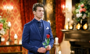 The Bachelor Australia's 2017 bachelor, Matty J waits to begin the Rose Ceremony. 'Maybe the madness of love is just what the world wants right now.'