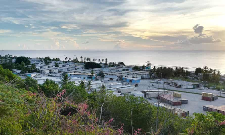 Settlements and hospital on the island of Nauru.