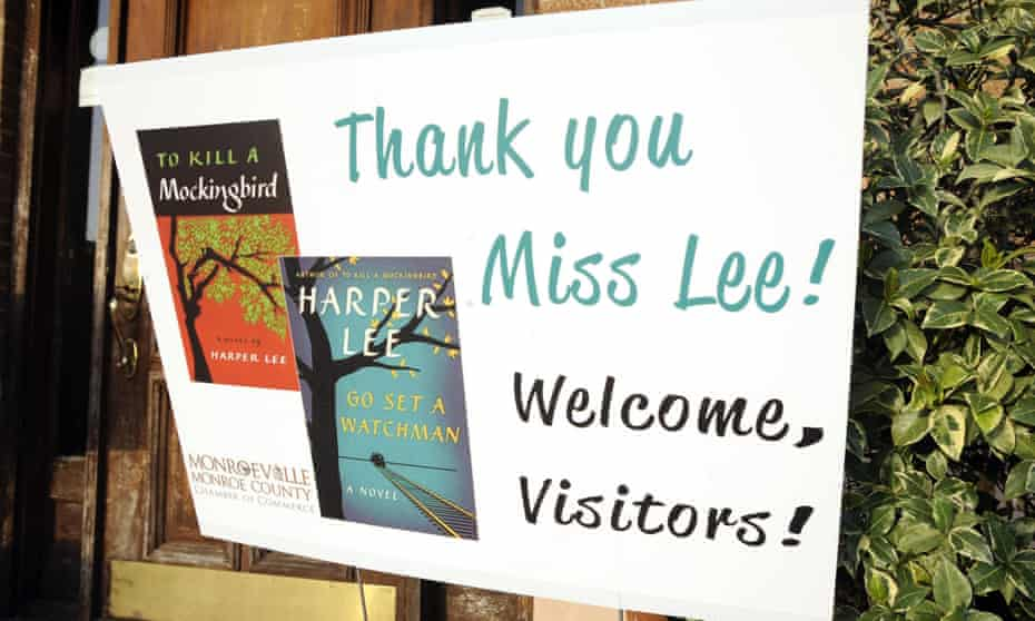 A sign welcomes fans to Monroeville, Alabama, the real-life model for Harper Lee's Maycomb.
