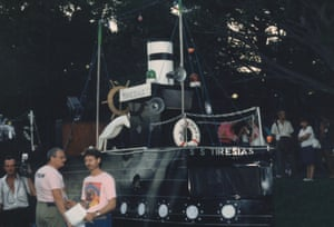 The S.S. Tiresias, Tiresias House transgender float in the Sydney Gay Mardi Gras Parade, 1988.