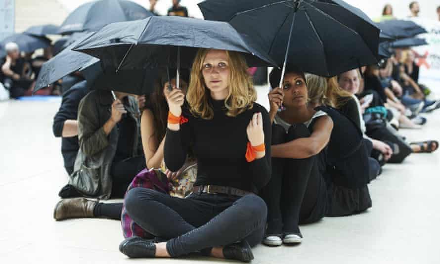 Anti-BP protesters at the British Museum.