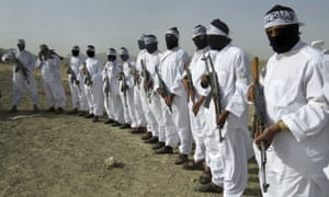 A gathering of a breakaway Taliban faction in the border area of Zabul province, Afghanistan