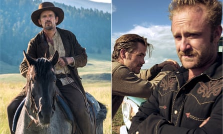 How the west was spun ... Ethan Hawke in In A Valley of Violence and Chris Pine and Ben Foster in Hell Or High Water