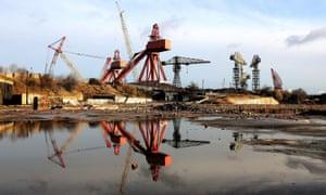 Swan Hunter's shipyard on the River Tyne in 2008.