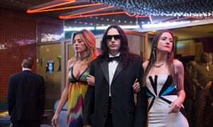 A bizarre figure of indeterminate age and background … James Franco as Tommy Wiseau in The Disaster Artist.