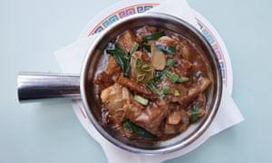 Wong Kei's stewed brisket hot pot: 'Dependable.'
