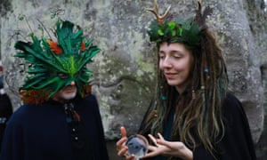 Winter solstice celebrations at Stonehenge, Wiltshire.