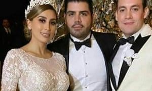 Alejandrina Gisselle Guzmán Salazar with her husband Edgar Cazares, right.