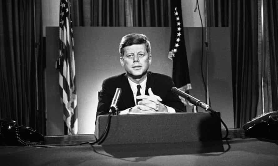 US president John F Kennedy in 1963.