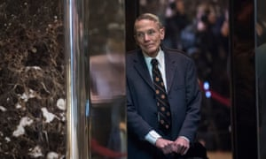 William Happer in Trump Tower in 2017. Happer has pushed to challenge the government's findings that the climate crisis is a national security threat.
