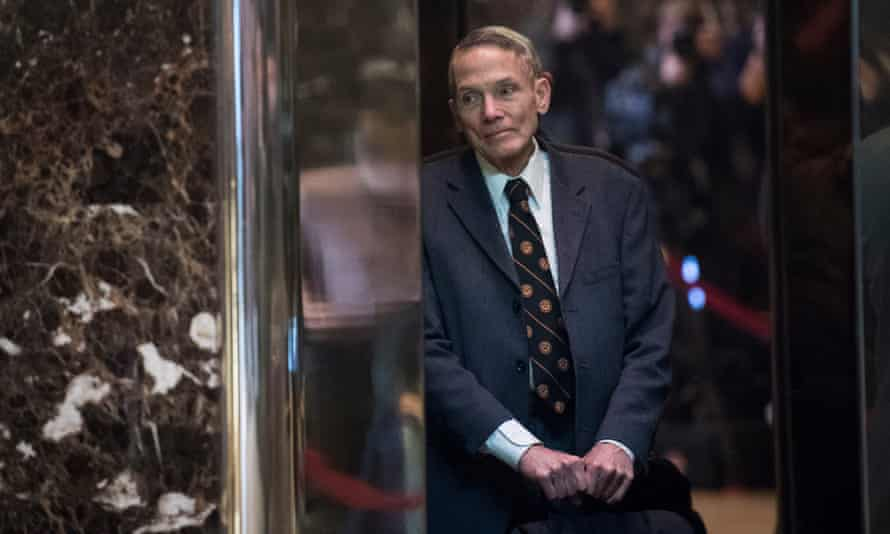 William Happer at Trump Tower in New York, New York on 13 January 2017.