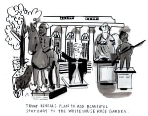 Cartoonist Katie Fricas on Donald Trump's attitude towards Confederate statues.