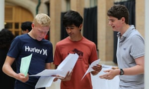 Students collect their GCSE results at the Nottingham High school