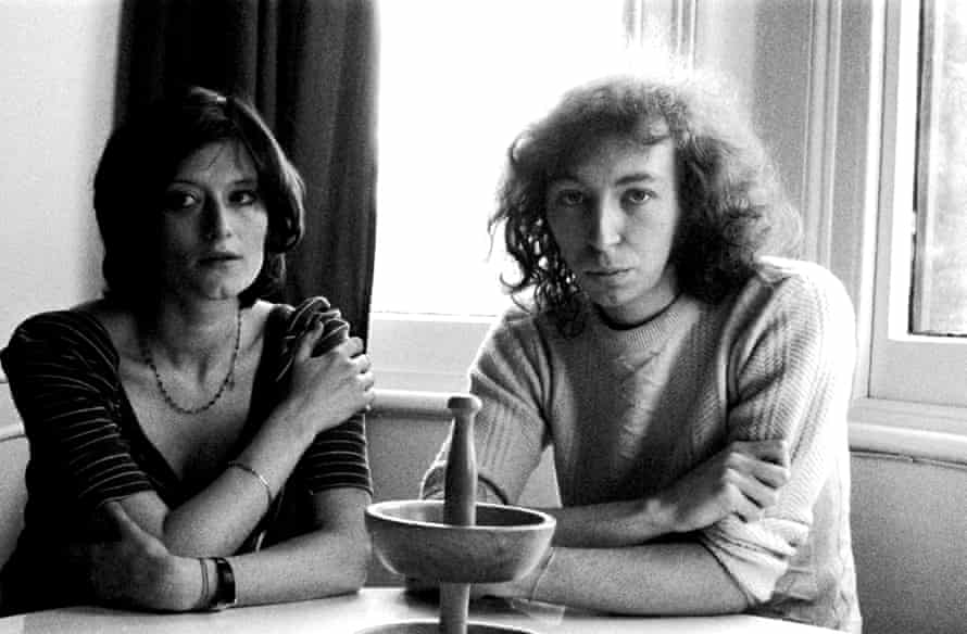 With Linda, 1974.