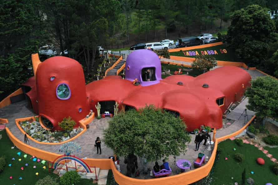 A general view of Fang's Flintstones home in Hillsborough. Photograph by Justin Sullivan/Getty Images