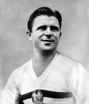 bc583568cb7 Ferenc Puskas as Hungary captain at the 1954 World Cup.