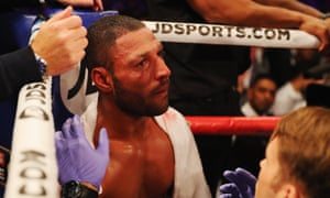 Kell Brook's right eye is heavily bloodshot following his world middleweight title defeat by Gennady Golovkin.