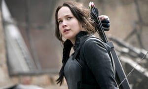 Jennifer Lawrence in The Hunger Games: Mockingjay - Part 1.
