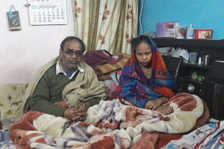 Yashpal Saxena (left) and wife Kamlesh Yashpal Saxena, the parents of Ankit Saxena.